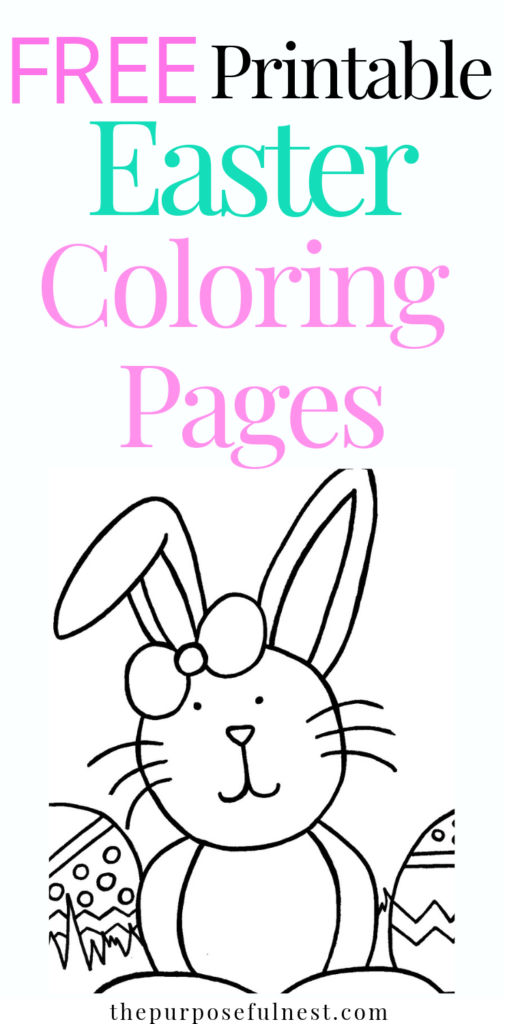 Free Easter Coloring Page Printable | The Purposeful Nest